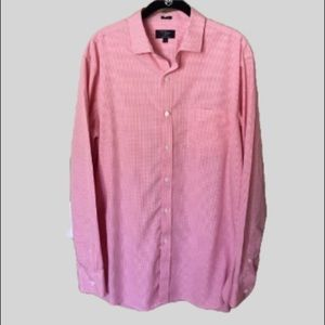 J. Crew Pink 80's 2 Ply Checked Button Down Shirt